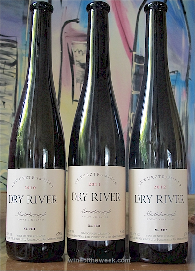 Three Dry River Gewurztraminers