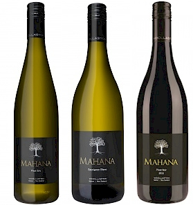 Trio of Mahana wines